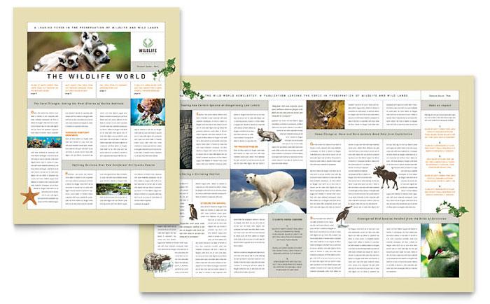 Nature  Wildlife Conservation Newsletter Template Design