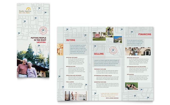Real Estate Agent  Realtor Brochure Template Design - sample real estate brochure