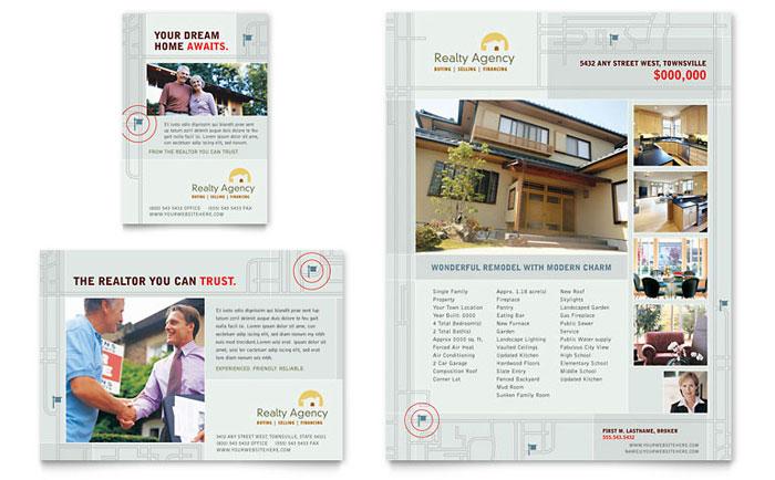 Real Estate Agent  Realtor Brochure Template Design
