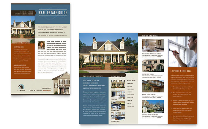 Residential Realtor Newsletter Template Design
