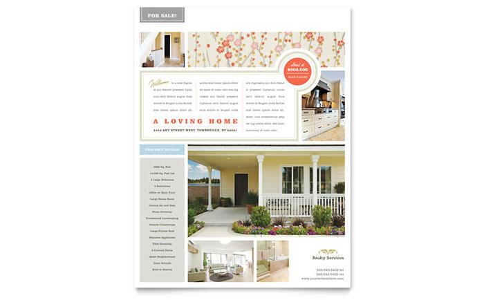 Real Estate Home for Sale Flyer Template Design