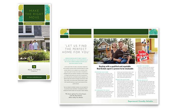 Real Estate Brochure Template Design - sample real estate brochure
