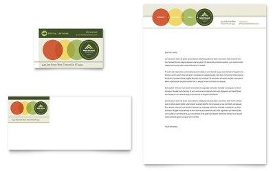 Mortgage Broker Business Card & Letterhead Template Design
