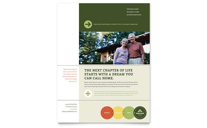 Mortgage Broker Flyer Template Design - mortgage templates
