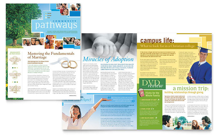 Creative Church Bulletins  Christian Newsletters StockLayouts Blog - church bulletin template