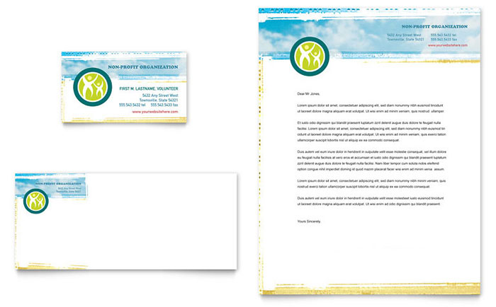 Special Education Business Card  Letterhead Template Design
