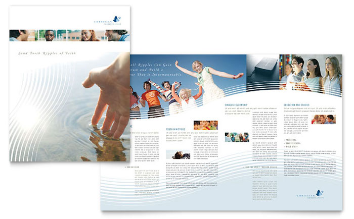 Religious  Organizations Pamphlets Templates  Design Examples