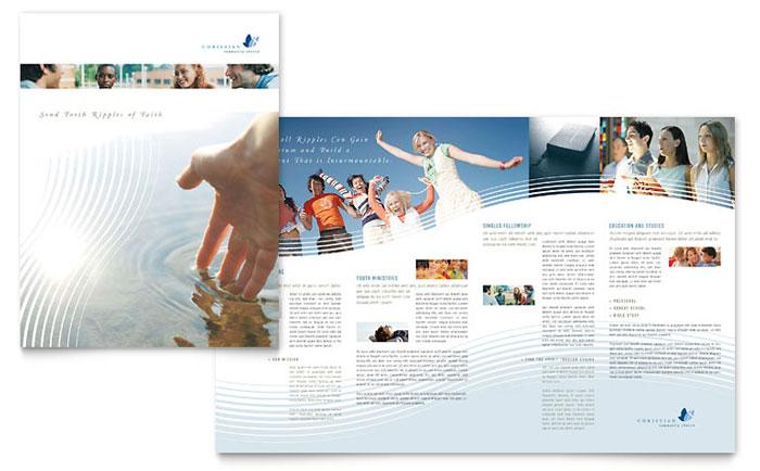 Religious  Organizations Brochures Templates  Design Examples