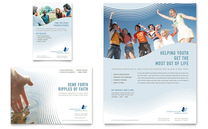 Christian Ministry Flyer  Ad Template Design