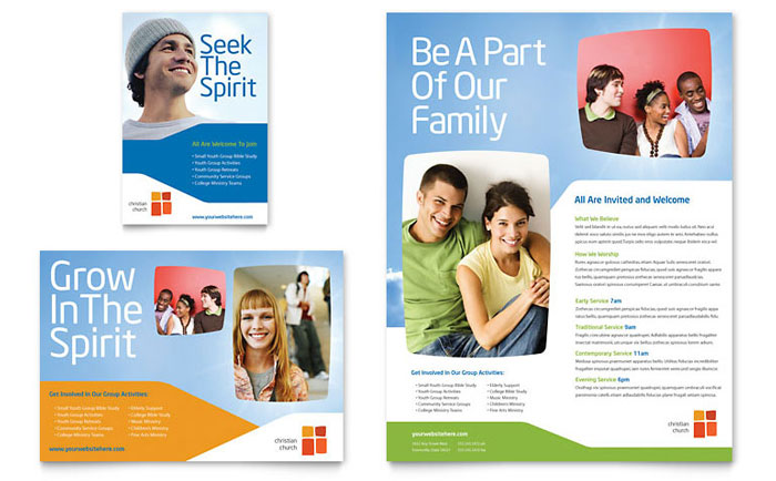 Church Youth Ministry Flyer Ad Template Design