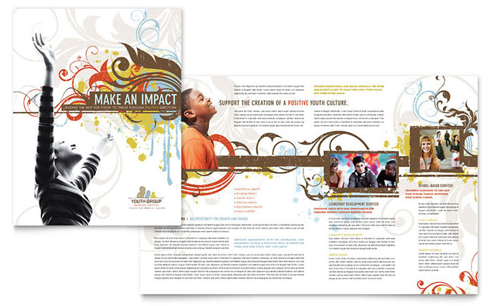 Religious  Organizations Brochures Templates  Design Examples - religious brochure