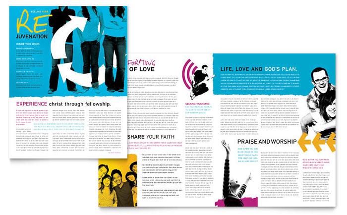 Church Newsletter Templates Religious \ Organizations - church newsletter