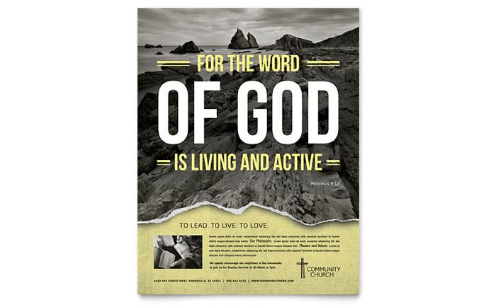 Bible Church Flyer Template Design