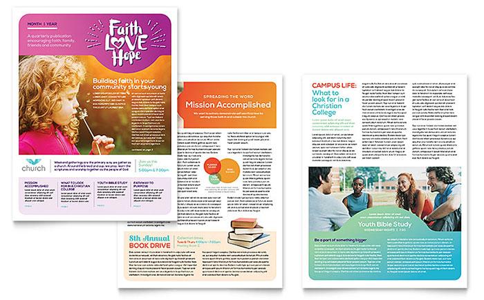 Church Newsletter Template Design