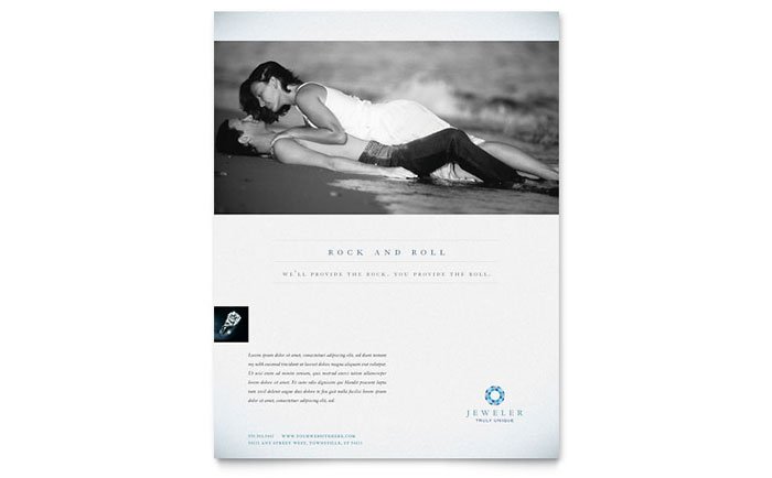Jeweler  Jewelry Store Flyer Template Design