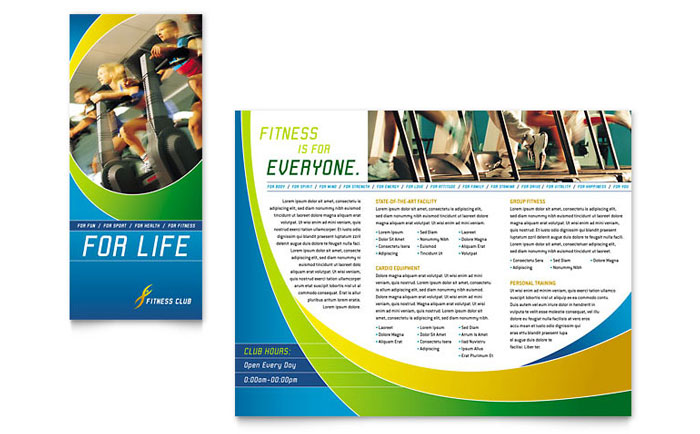 Sports  Fitness Brochures Templates  Design Examples - Fitness Brochure Template