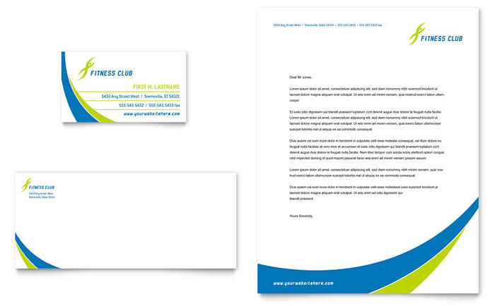 Website Templates Web Templates Template Monster Sports And Health Club Business Card And Letterhead Template