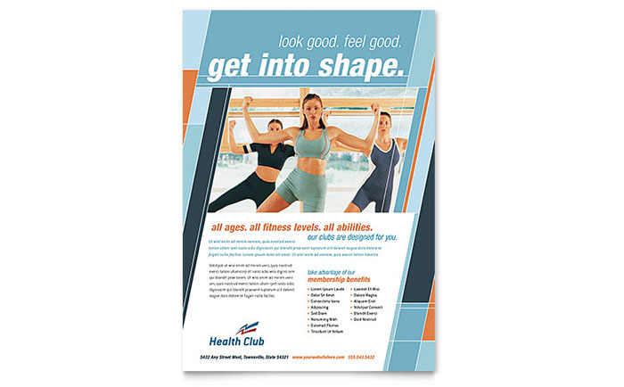 Health  Fitness Gym Flyer Template Design - Fitness Brochure Template