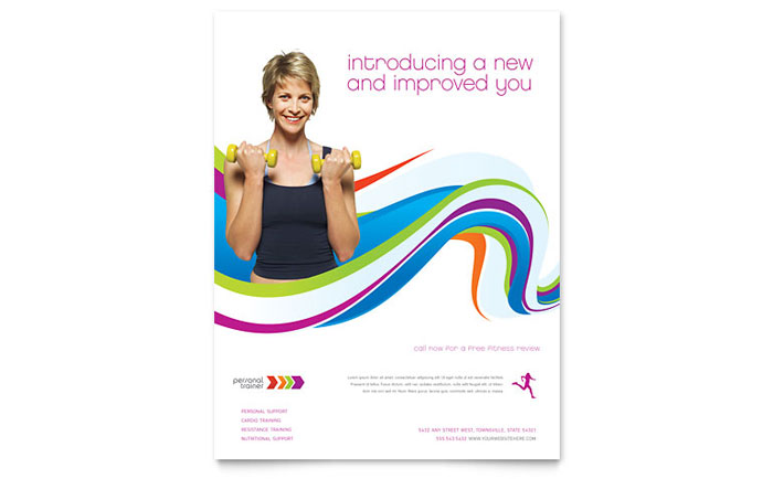 Personal Training Flyers Templates  Graphic Designs