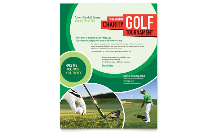 Golf Tournament Flyer Template Design - golf tournament flyer template