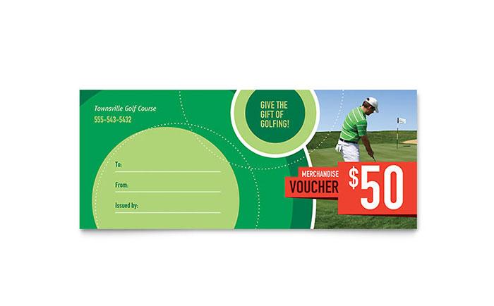 Golf Tournament Gift Certificate Template Design - business certificates templates