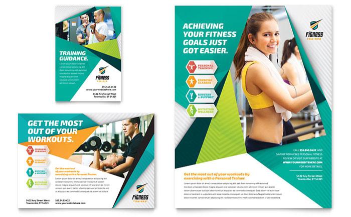 Fitness Trainer Flyer Template Design