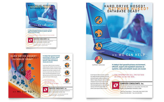 Computer Repair Flyers Templates  Graphic Designs - computer repair flyer template