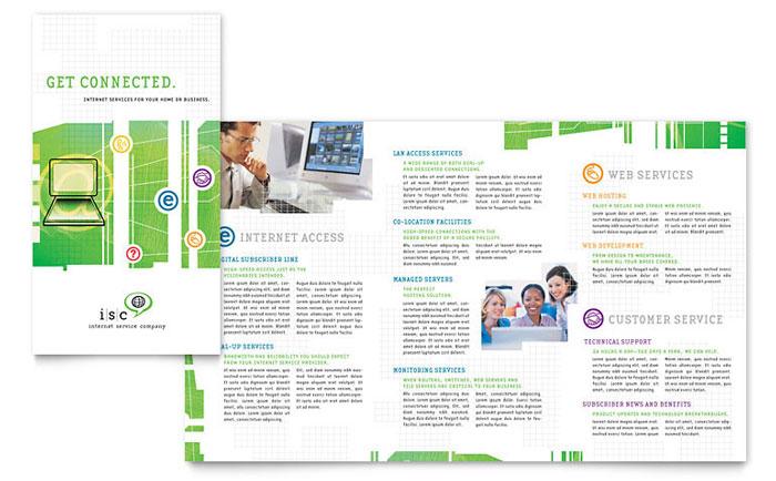 ISP Internet Service Brochure Template Design - services brochure