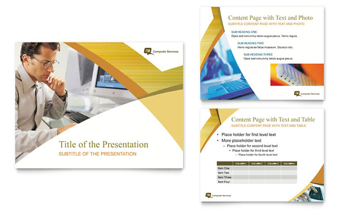Computer Services  Consulting PowerPoint Presentation Template Design - consulting presentation templates