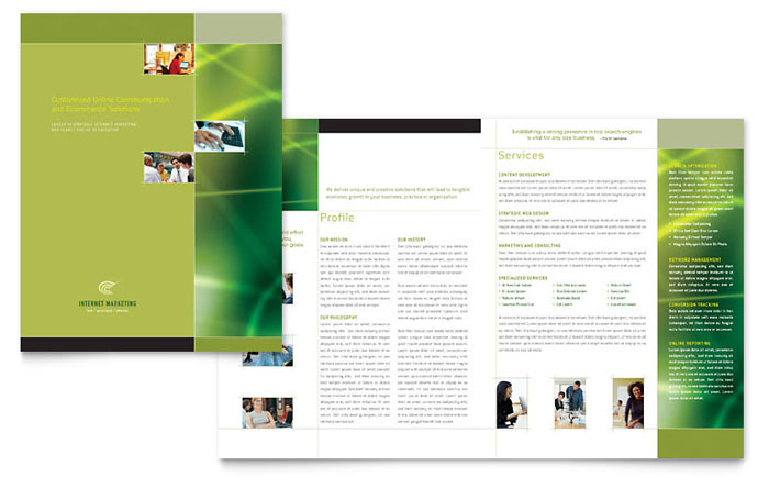 Internet Marketing Brochure Template Design - marketing brochure