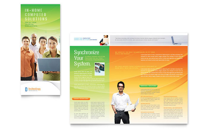 Computer  IT Services Brochure Template Design