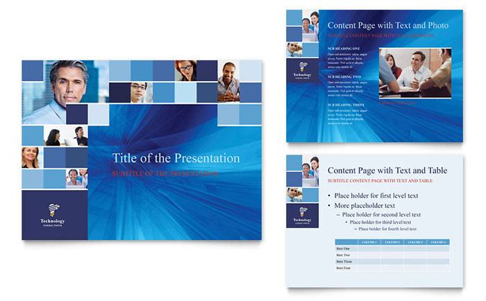 Technology Consulting  IT PowerPoint Presentation Template Design - consulting presentation templates