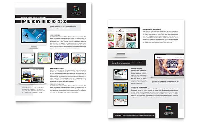Website Designer Datasheet Template Design - sample sales sheet