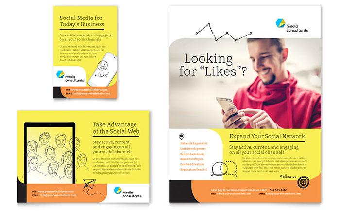 Social Media Consultant Flyer  Ad Template Design