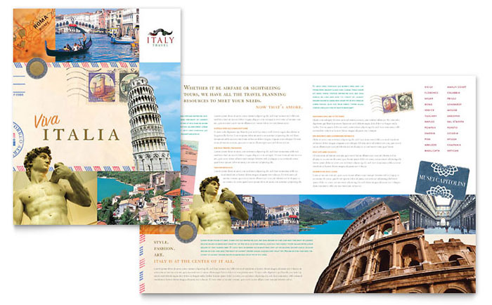 Italy Travel Brochure Template Design - travel brochure templates