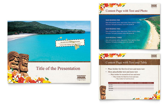 Hawaii Travel Vacation Brochure Template Design - Vacation Brochure Template