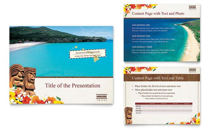 Hawaii Travel Vacation Brochure Template Design