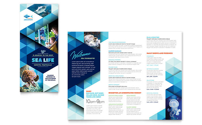 Ocean Aquarium Brochure Template Design