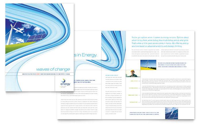 Renewable Energy Consulting Brochure Template Design
