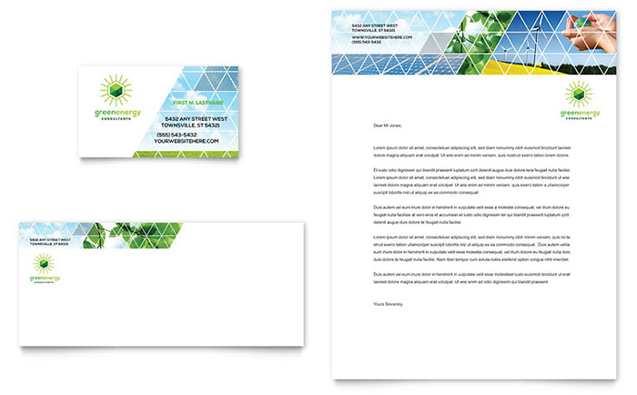 Energy  Environment Business Cards Templates  Design Examples