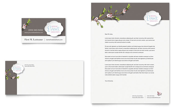 Wedding \ Event Planning Business Cards Templates \ Designs - event card template