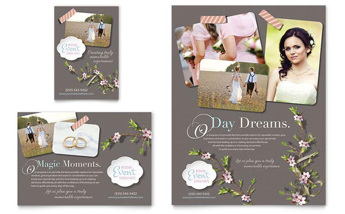 Wedding Planner Brochure Template Design - wedding brochure template