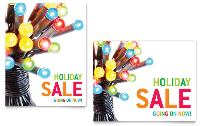 Christmas Lights Sale Poster Template Design - sale poster design
