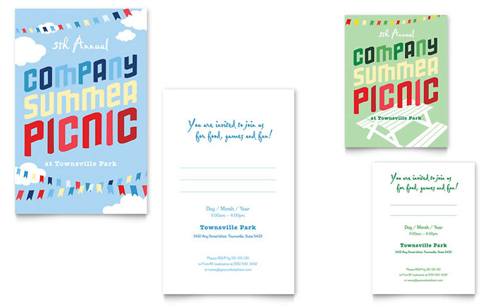 Business Events Note Cards Templates  Design Examples