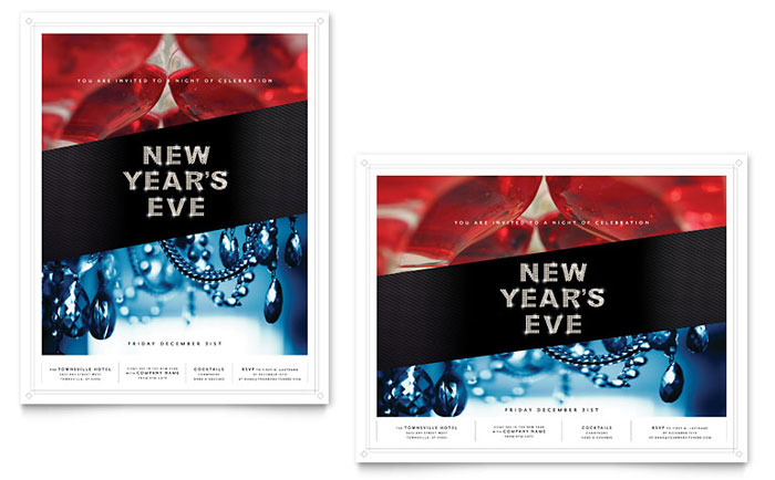 New Year\u0027s Eve Party Poster Template Design - new year poster template