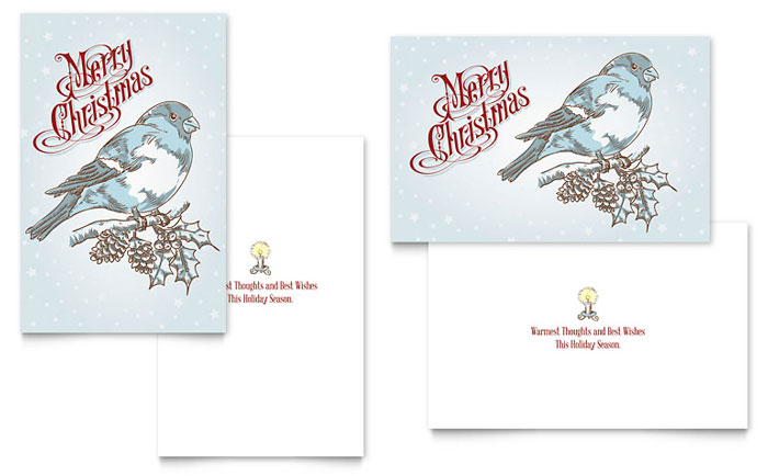 publisher christmas card template