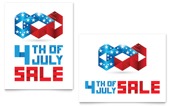 4th of July Posters Templates  Graphic Designs - 4th of july template