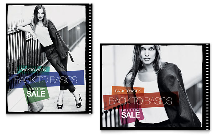 Clothing Store Posters Templates  Graphic Designs