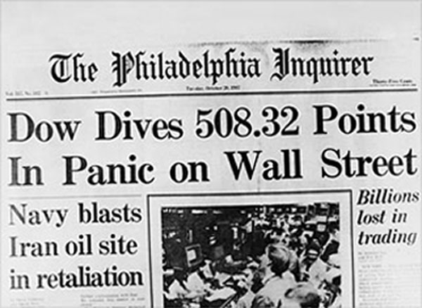 1987 Stock Market Crash Chart and What Caused the Crash Stock