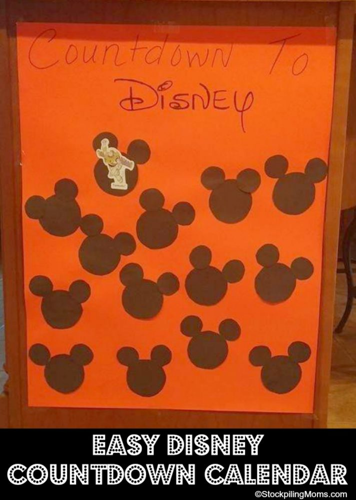 Easy Disney Countdown Calendar